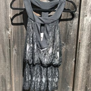 Baby Phat: Black Lace Halter Top